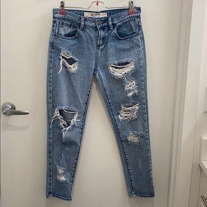 Brandy Melville Distressed Denim Jeans